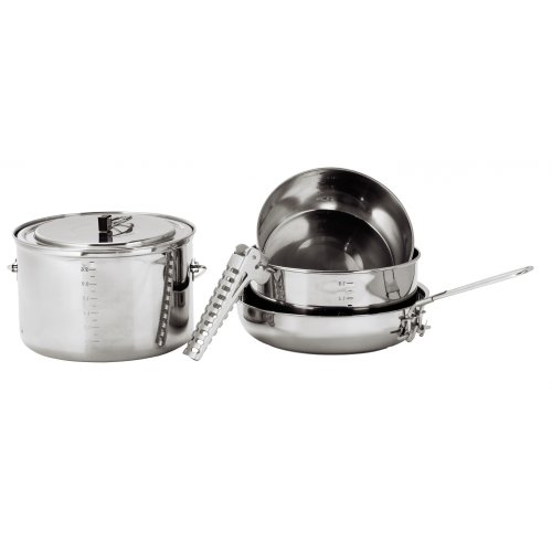Primus Cookware Gourmet DeLuxe stainless steel cooking set