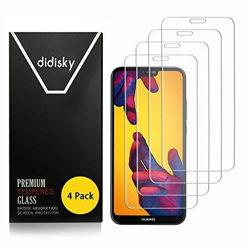 Didisky Pellicola Protettiva in Vetro Temperato per Huawei P20 Lite, [4 Pezzi] Protezione Schermo [Tocco Morbido ] Facile da Pulire, Facile da installare, Trasparente