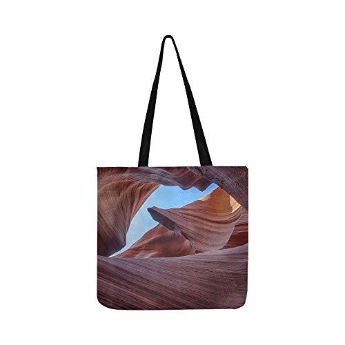 Lower Antelope Canyon Sky Canvas Tote Handbag Shoulder Bag Crossbody Bags Purses For Men And Women Shopping Tote