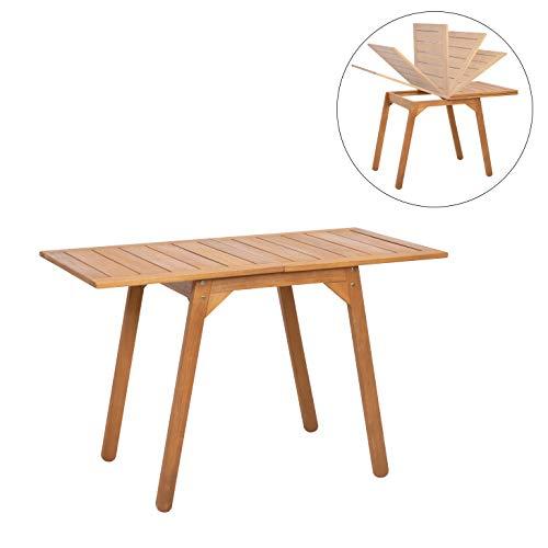 greemotion Tisch Borkum, mit ausklappbarer Tischplatte, Akazienholz FSC 100 %