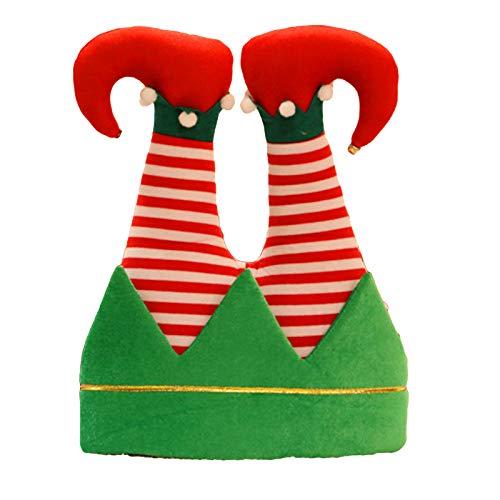 Esenlong - Cappellino natalizio divertente per adulti, cappello da Babbo Natale, cappello da Babbo Natale e pantaloni di Babbo Natale