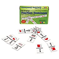 Learning Advantage The Original Fraction Dominoes - in Home Learning Fraction Game - 45 Dominoes - Math Manipulative for Kids - Teach Equivalents, Adding and Subtracting Fractions