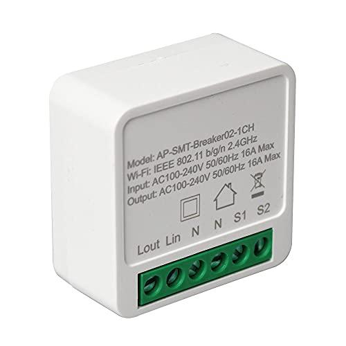 Mini Smart WIFI Módulo de interruptor de bricolaje Control de voz Temporizador de escena inteligente Funciona con Alexa para la aplicación Google Home Automation