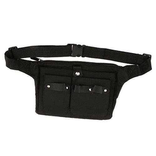 Milageto Herramientas de estilo cinturón cintura bolsa de adelgazamiento tijeras peines clips bolsa de almacenamiento