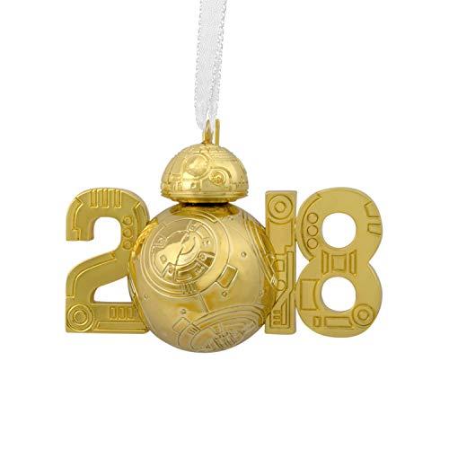 HMK Hallmark 2018 Premium Gold BB-8 Star Wars Disney Ornament
