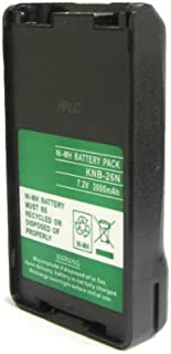ExpertPower® 7.2v 2000mAh NiMh High Capacity Two-way Radio Battery for Kenwood KNB-25 KNB-26 TK-2140 TK-3140 TK-2148 TK-3148 TK-2160 TK-3160 TK-2168 TK-3168 TK-2170 TK-3170 TK-2173 TK-3173