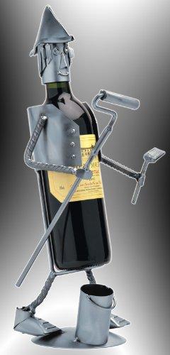 Boystoys HK Design Weinflaschenhalter Malermeister - Metall Art Weinflaschen-Deko & Weingeschenk - Original Schraubenmännchen Kollektion - handgefertigte Geschenkidee