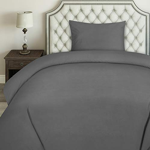 Utopia Bedding Duvet Cover Set - Brushed Microfibre Duvet Cover with 1 Pillowcase (Single, Grey)