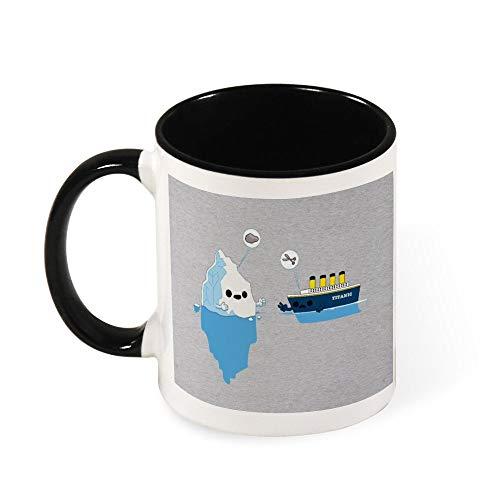 Taza de té de cerámica con tijeras de papel Titanic Rock, regalo...