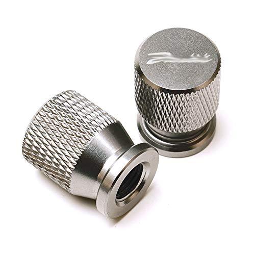 JINBINB / Ajuste para Suzuki Bandit 1200 1250 / S/F 250 400 650 GSF650 GSX1250 GSX1400 Motorcycle CNC CNC Neumático de Las Ruedas Tallo de la válvula Tapa de Las Tapas de Aire (Color : Titanium)
