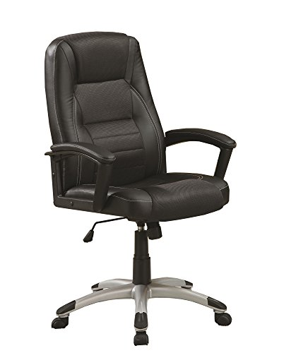 Coaster Home Furnishings Coaster Casual Black Executive Chair with Adjustable Seat Height