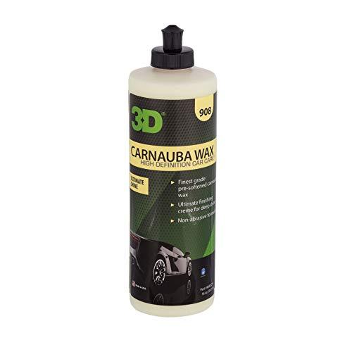 3D Products Carnauba, Cera Auto Professionale Effetto Lucido e Bagnato