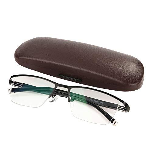 Zonnebril voor mannen en vrouwen buitenzonnebrillen, 0° -400° UV-bescherming, intelligente gevoelige overgang verkleuring leesbril, platte spiegel, halve frame, vaderdaggeschenk voor vaderdag