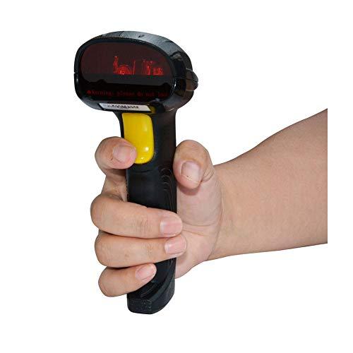ERLIANG Pistolet à Code-Barres sans Fil avec Scanner Laser sans Fil pouvant être utilisé pour Le paiement Mobile Code de Balayage pour supermarché Couleur: Noir