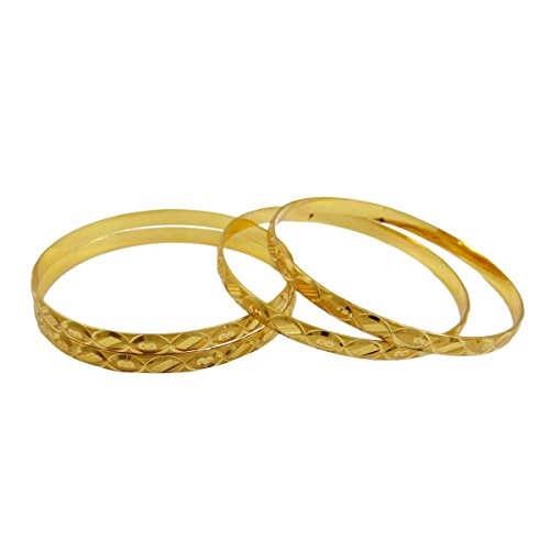 IBA Indianbeautifulart Gold 18K überzog indische Hochzeit Kada Braut Armreif Set 2 * 8-Geschenk für sie