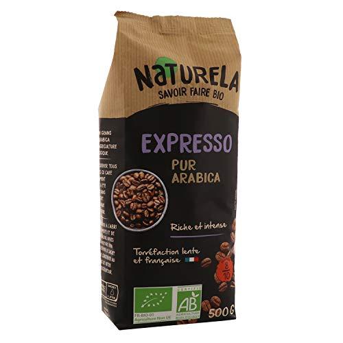 Naturela Café Grains Bio Expresso Pur Arabica - 500 g