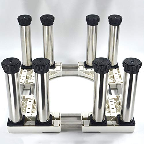 Mfnyp Machine à Laver Socle, Socle en Acier Inoxydable résistant à l'humidité avec 4-12 Pieds de Support réglables pour sèche-Linge, Lave-Linge et Un réfrigérateur (Hauteur: 28 à 32 cm),B