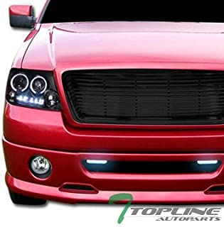 Topline Autopart Black Horizontal Billet Front Hood Bumper Grill Grille ABS For 04-08 Ford F150