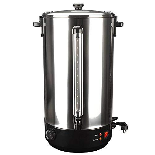 Coolautoparts Glühweinkocher Einkochautomat aus Edelstahl 40L 2500W Einkochtopf Einkocher Glühweinkessel Glühweinautomat Heißgetränkeautomat Heißwasserspender, Warmhalte-Funktion