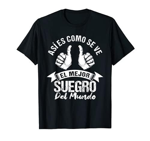 El mejor Suegro del mundo Regalo cumpleaños Suegro Camiseta