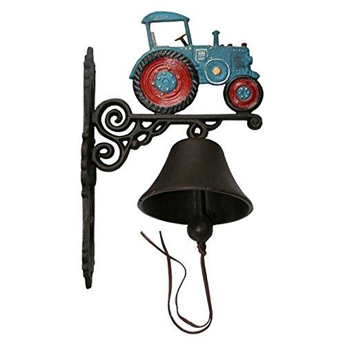 Luxe Pur UG blauwe tractor tractor klok gietijzer tuin antieke decoratie nostalgie