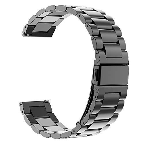 Kobmand Armband Kompatibel Amazfit GTR 47mm,22mm Quick-Fit Uhrenarmband Metallarmband Edelstahl Uhrenarmband Ersatz fürAmazfit GTR 47mm/Amazfit GTR 2e/GTR 2 (Schwarz)