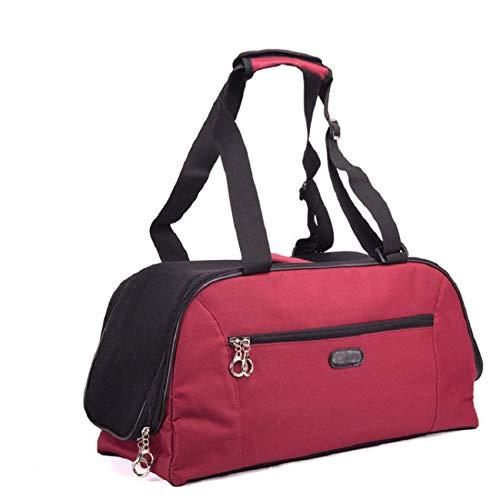 Pet Dog Cat Tragetasche Größe S/L Für innerhalb von 5 kg Katze oder kleines Hündchen Tragbare Reisetragetasche Handtasche Kisten Zwinger, Schwarz Rot Gelb