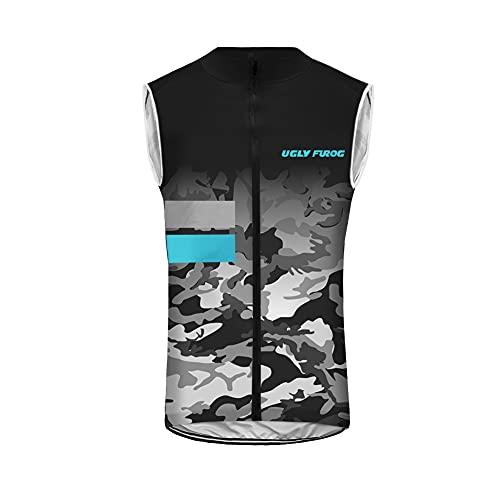 UGLY FROG Bandiera del Paese Pattern 3D Stampa Traspirante Team Bike Cycling Jersey Abbigliamento Primavera Summer Outdoor MTB Bicicletta Riding Jersey Uomo Senza Maniche Magliette HI2019VJ04