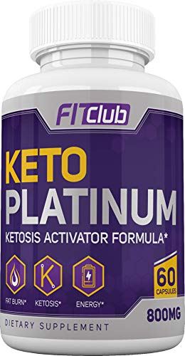 FitClub: Keto Platinum - Energy and Weight Loss Support Supplement - 60 Capsules - Facilitates Ketosis with BHB - Aids Sleep, Brain Health, and Muscle Recovery - Safe Ingredients