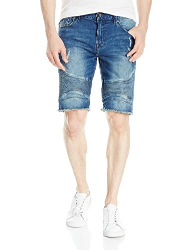 GUESS Men's Slim Sewanne Denim Shorts, Sewanee Wash, 33