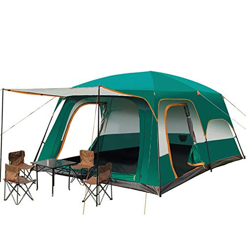 YGY Camping Tent 2 Room Large Space for 3-6...