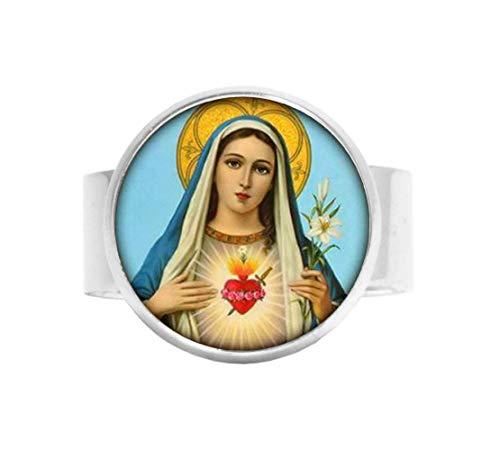 Anillo de la Virgen María cristiana religiosa religiosa religiosa espiritual católica Religión joyería de cristal foto joyería