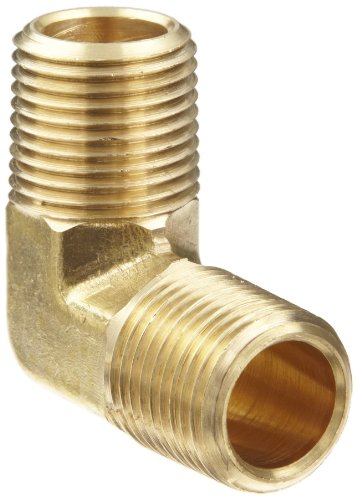 Anderson Metals Brass Pipe Fitting, 90 Degree Forged Elbow, 3/8' x 3/8' Male Pipe