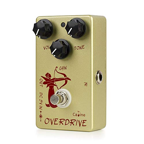 Caline Overdrive Guitar Effects Pedal Guitar Distortions Pedal Metal True Bypass Golden CP-99