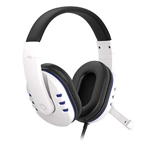 ROSEBEAR Gaming-Headset, kompatibel mit PS4/Xbox One/PC/Computer/Handy, kabelgebunden, Over-Ear-Kopfhörer mit Mikrofon