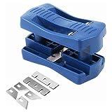 Edger Prato Strumento Taglio lavorazione del legno strumento di legno diritto Bordi Trimmer PVC Mobili Manuale Tool (Blu)