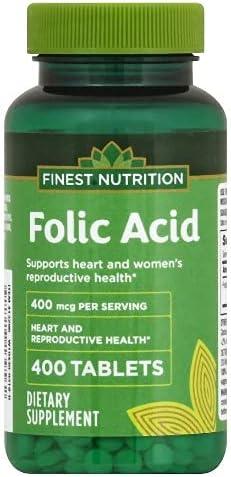 Folic Acid Sale SALE% OFF 400mcg 400 Finest Tablets Max 81% OFF Nutrition