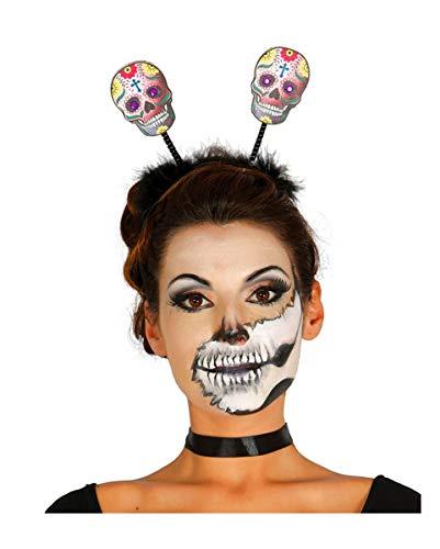 Horror-Shop Jour des Morts Haareif avec des crânes