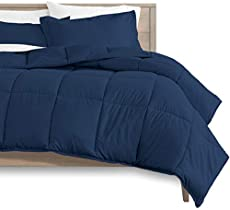 Bare Home Kids Comforter Set - Twin/Twin Extra Long - Goose Down Alternative - Ultra-Soft - Premium 1800 Series - Hypoallergenic - All Season Breathable Warmth (Twin/Twin XL, Dark Blue)