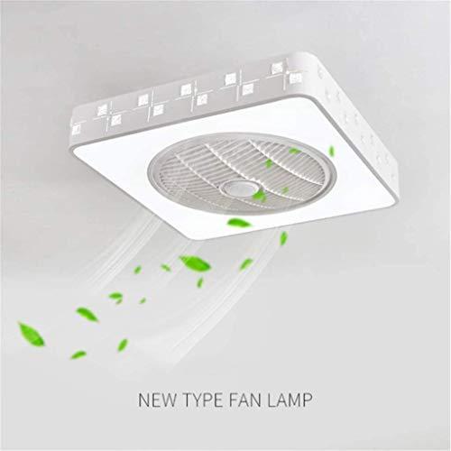 DOCJX Moderne Einfachheit kreative mit fernbedienung leise Schlafzimmer LED Dimmbar Deckenleuchte Lampe Wohnzimmer Beleuchtung Negative Ionen-Stealth-Fan-Leuchte Fan Deckenventilator Dekoration,B