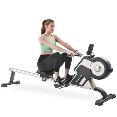 Merax Rowing Machine Magnetic Rower Machine Home Rower with 8 Levels Resistance Adjustment Fitness Equipment for Home Gym, 340 LBS Weight Capacity