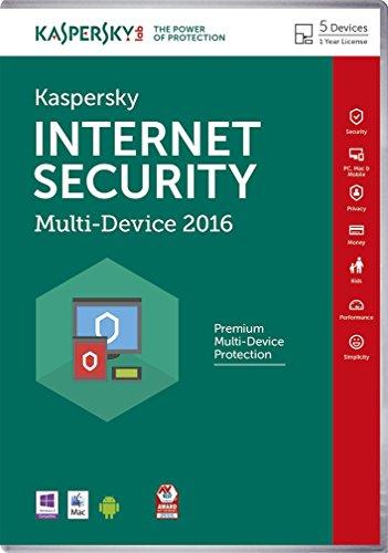 Kaspersky - Internet Security 2016 (5 Appareils, 1 An)