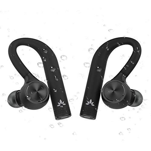Avantree TWS109 TWS True Wireless Auriculares Inalámbricos IPX5 Impermeables a Prueba de Sudor, In Ear Headset Audífonos Bluetooth 5.0 sin conexión por Cable, con fijación para Hacer Deporte