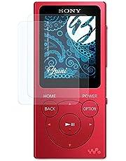 Bruni Película Protectora Compatible con Sony Walkman NW-E393 / NW-E394 Protector Película, Claro Lámina Protectora (2X)
