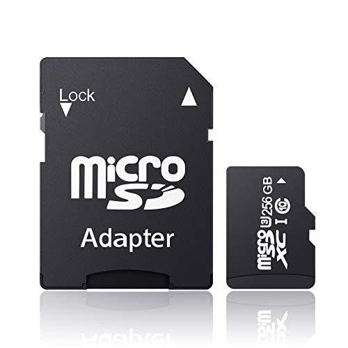 ANNKEEM Micro SDXC メモリーカード アプリ最適化 U3対応Class 10 超高速100MB S 専用 SDアダプター付-A(256GB)