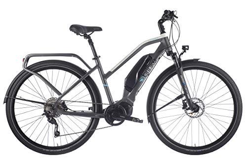 Brinke Bicicletta Elettrica Rushmore Evo DEORE Comfort (Grigio, M)
