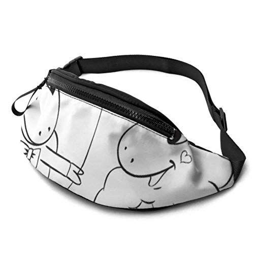 Casual Waist Bag Lightweight Fanny Pack Travel Bum Bags Adjustable Running Pocket Duffle Shy Sheep Gentle Elegant