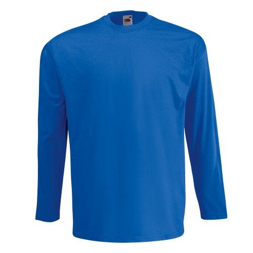 Fruit of the Loom Langarm T-Shirt 61–038–0 Gr. L, Blue - Royal