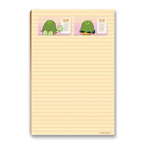 """Funny Magnetic To Do List Notepad- 8.5"""" x 5.5"""" - 50 Sheets - Made in USA - Grocery, Shopping, Daily Tasks List(Scared Turtle)"""