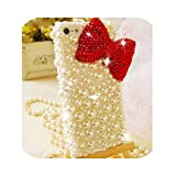Fun-boutique Coque pour Iphone XR,Red Bow Crystals Pearls Gems Case for Iphone X XS XR 10 Pro Max 7...
